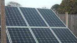 Installing solar panels in your garden
