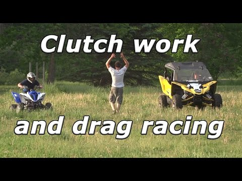 Rick test driving the YXZ, fixing broken clutches, and Raptor 700R vs YXZ1000R drag race!