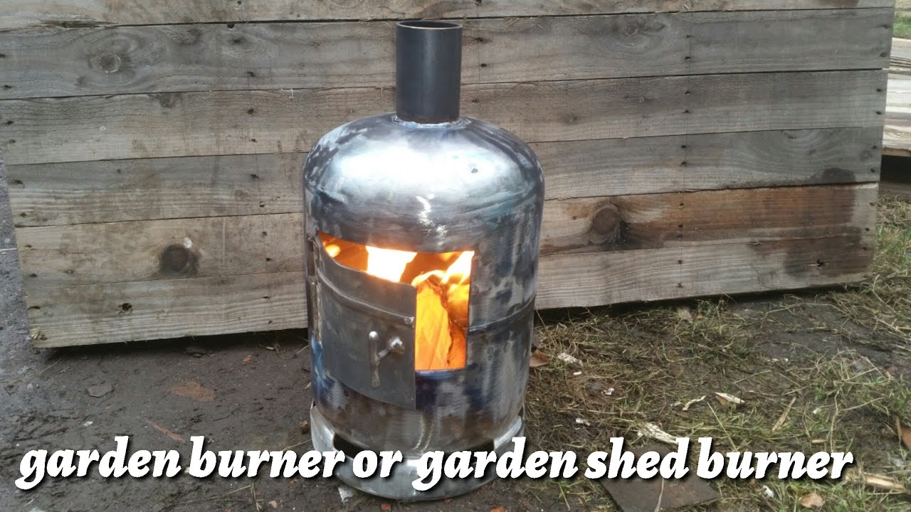 How To Make A Garden Wood Burner From A Gas Bottle Youtube
