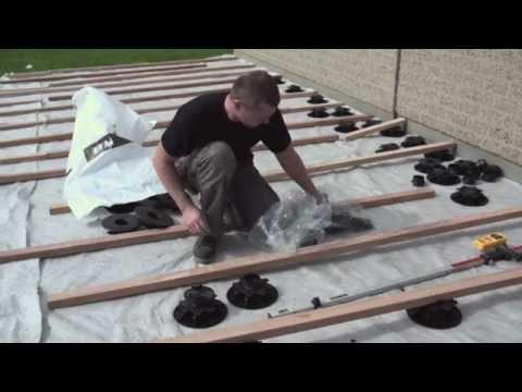 comment poser des lames de terrasse en bois composite avec plots reglables decoweb com