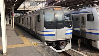 E217系クラY-44編成+クラY-125編成千葉発車