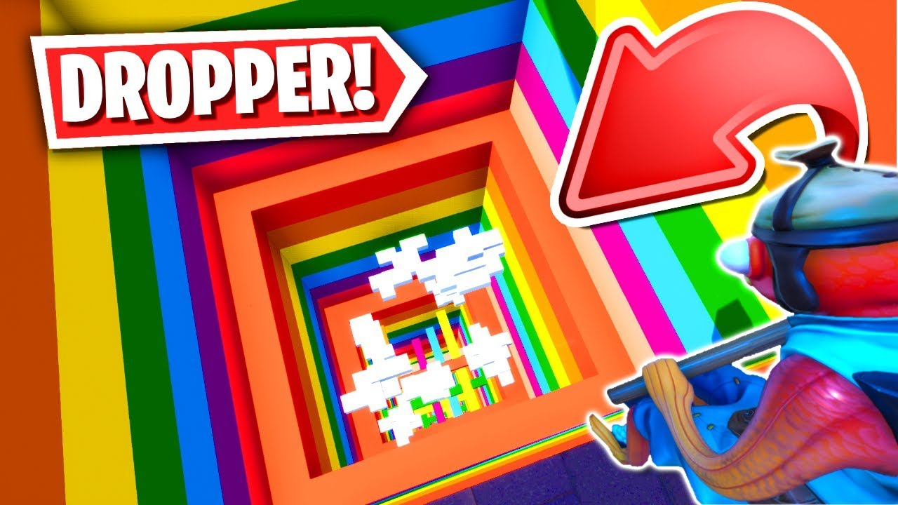 The BEST Fortnite RAINBOW DROPPER Parkour Map Creative Mode