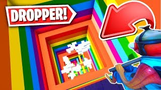 The BEST Fortnite RAINBOW DROPPER Parkour Map! (Fortnite Creative Mode)