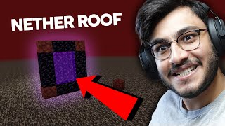 I GOT TO THE NETHER ROOF TO BUILD THE NETHER HIGHWAY - RAWKNEE