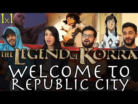 The Legend of Korra - 1x1 Welcome to Republic City - Group Reaction