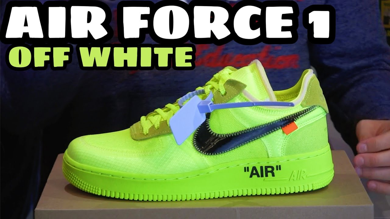 best sneakers 7dbdd b871f NIKE AIR FORCE 1 x OFF WHITE VOLT Unboxing Recensione Review ITA