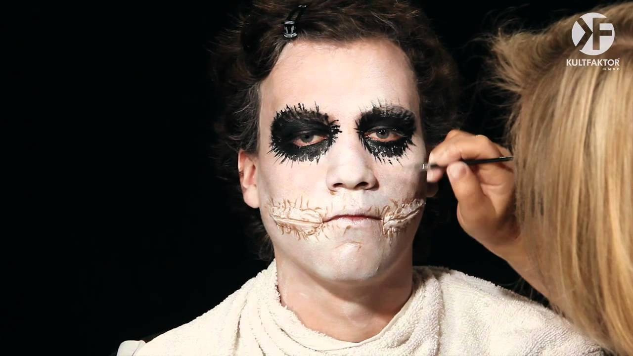 schminken zu halloween joker face make up leicht gemacht by youtube. Black Bedroom Furniture Sets. Home Design Ideas
