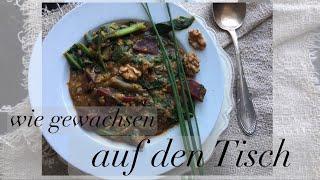 Linseneintopf mit Spinat und rote Bete || health food