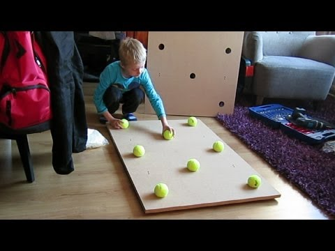 DIY Impact Noise Isolating 'Tennis Ball' Drum Platform