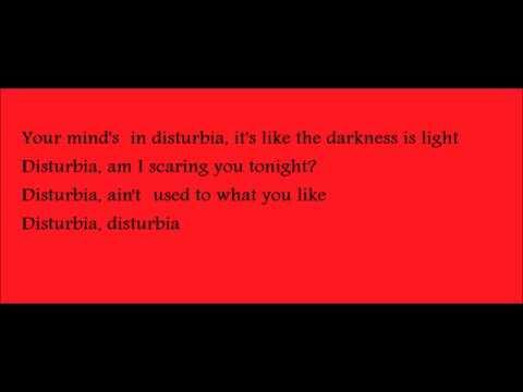 Disturbia-rihanna lyrics