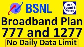 BSNL Revised Broadband Plan 777 and 1277 || DTS ||