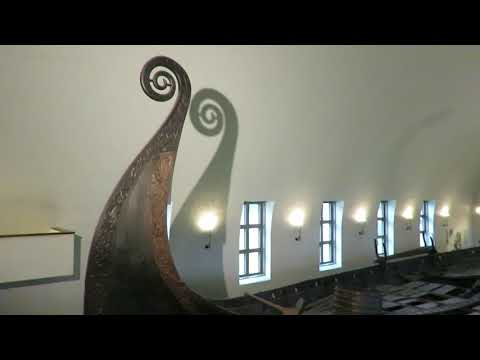 The Oseberg Ship in the Viking Ship Museum - Oslo, Norway