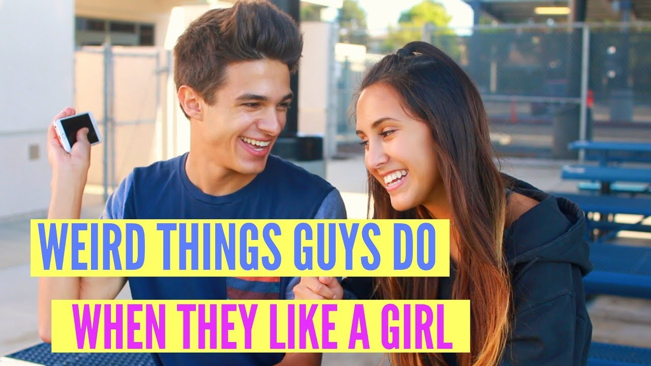 5 WEIRD Things Guys Do When They Like A Girl!
