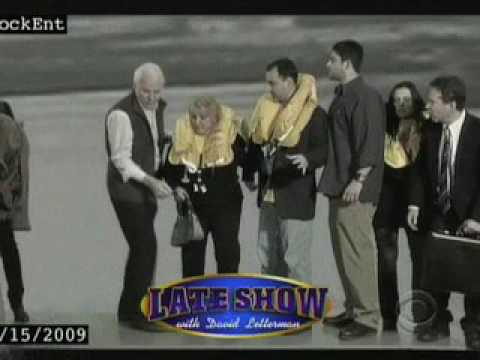 Flight 1549 on letterman