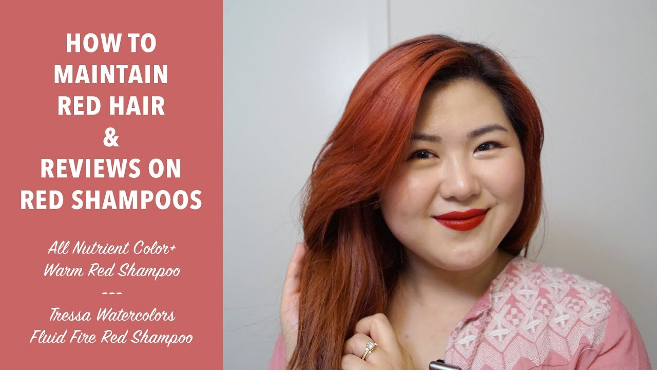 Tips To Maintain Red Hair Red Shampoos Favorite Products