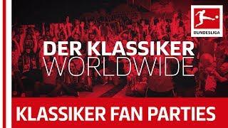 Bayern München vs. Borussia Dortmund - Klassiker Fan-Parties Around the World