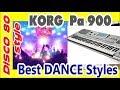 KorgPa~лучшие 8 стилей Dance~Обзор-2018 new-импровизация в стиле диско 80-х 90-х