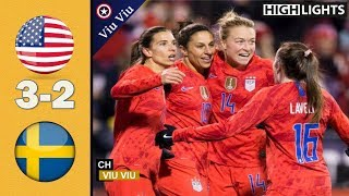 USA vs Sweden 3-2 Goals & Extended Highlights | November 7, 2019