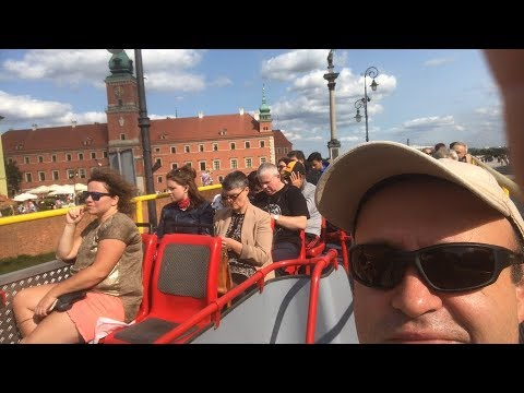 Warsaw Poland Sightseeing on Tour Bus 2017