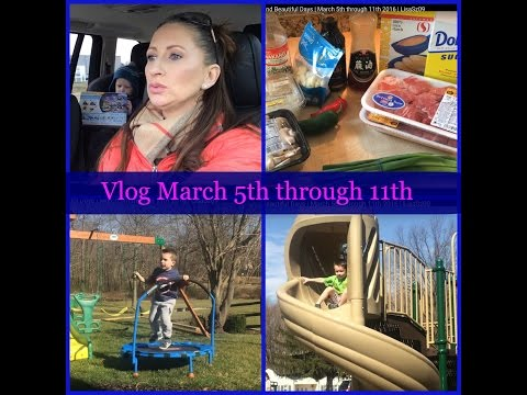 Vlog | Dinners Ideas and Beautiful Days | March 5th through 11th 2016 | LisaSz09