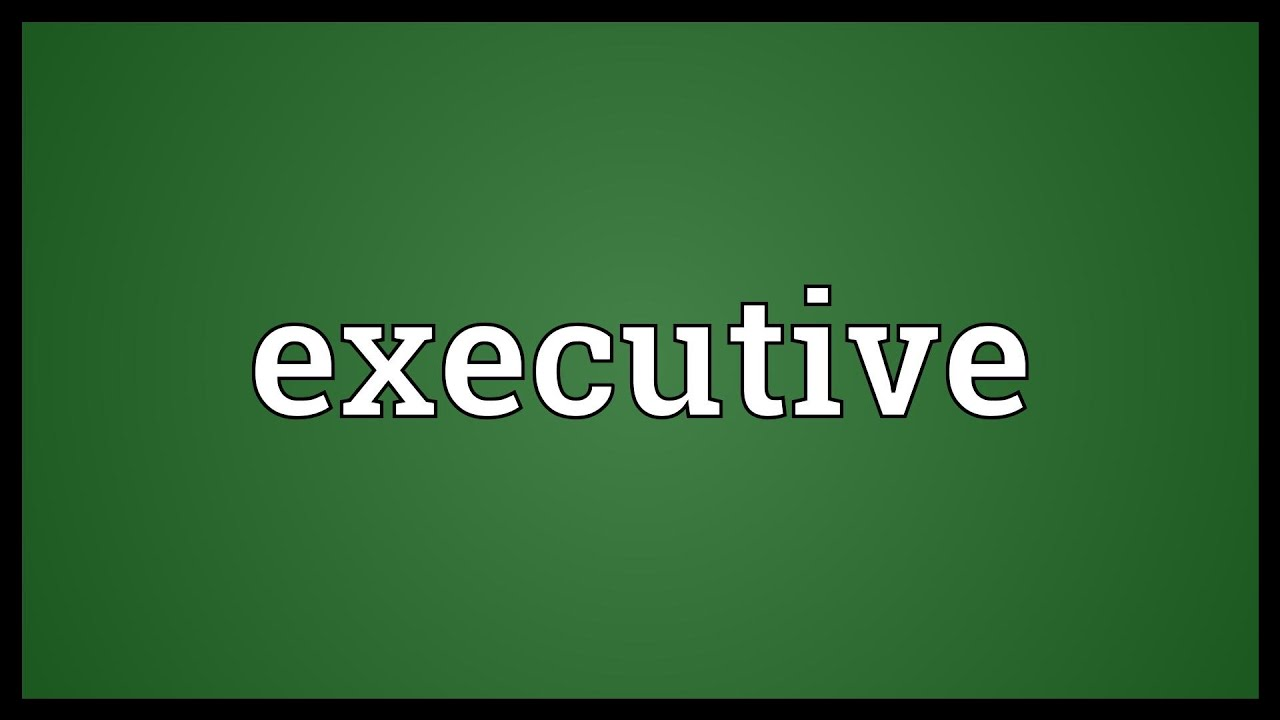 Executive Meaning