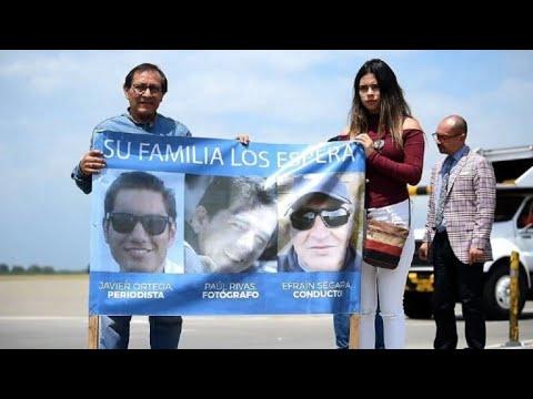Colombia busca identificar cuerpos de prensa ecuatoriana