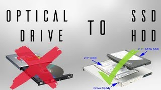 How to replace your laptop optical drive by an SSD or HDD