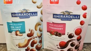 Ghirardelli: Milk Chocolate Sea Salt Cashew & Dark Chocolate Cranberry Review