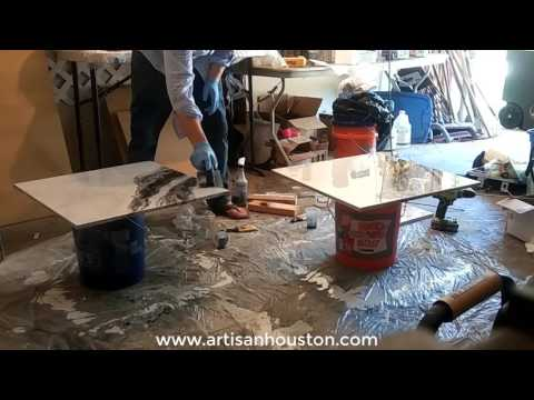 How To Make Epoxy Countertops That Look like EXOTIC Stone!!!
