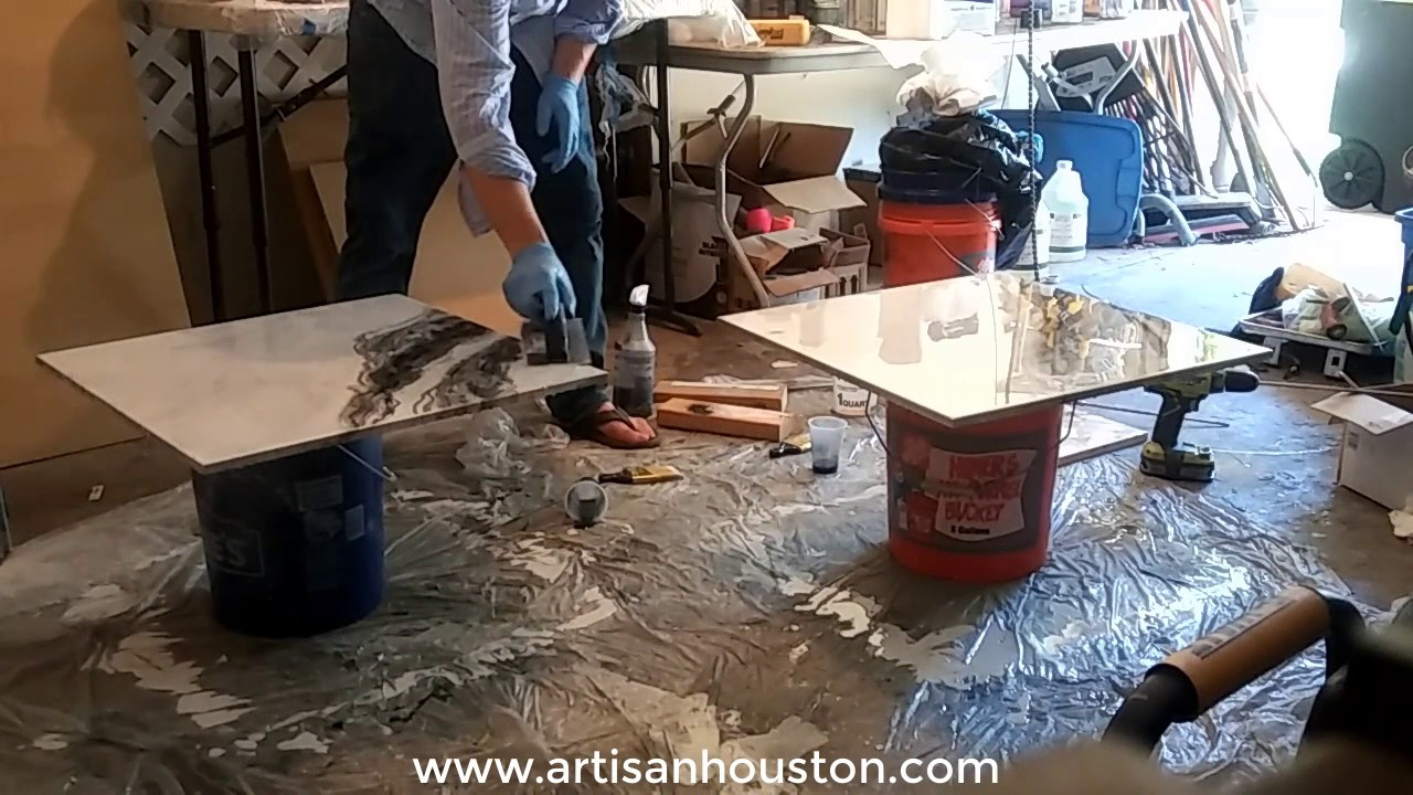 how to make epoxy countertops that look like exotic stone youtube. Black Bedroom Furniture Sets. Home Design Ideas