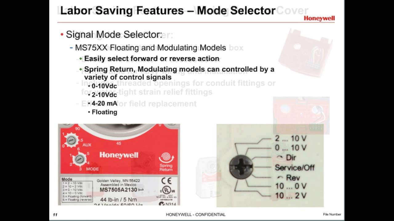 hight resolution of honeywell direct coupled actuators