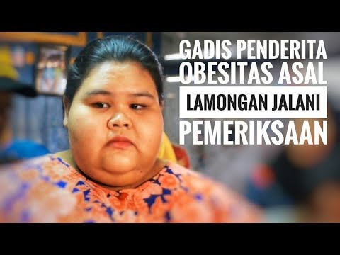 Gadis Penderita Obesitas Asal Lamongan Jalani Pemeriksaan - NET. JATIM