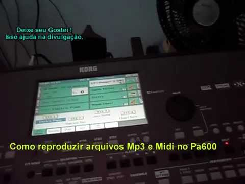 Video Aula-Como reproduzir arquivos MP3 e Midi no Korg Pa600/Pa900