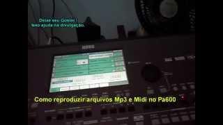 video aula como reproduzir arquivos mp3 e midi no korg pa600pa900