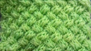Punto Stuoia Doppia ai ferri - Double Wicker Knitting Stitch (EN SUB)