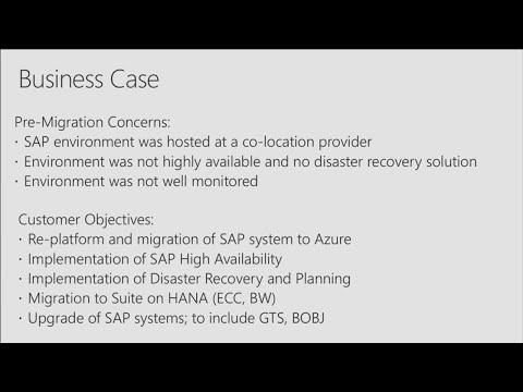 Lessons from a successful SAP on Azure migration | BRK2272