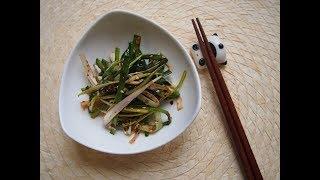 Корейская кухня: маринованный зеленый лук или пачори (파절이)