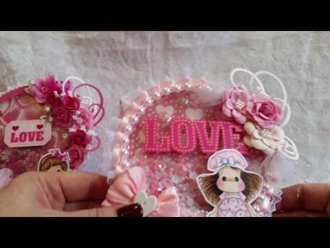 Magnolia Tilda Valentine Globe Shaker Easel Cards
