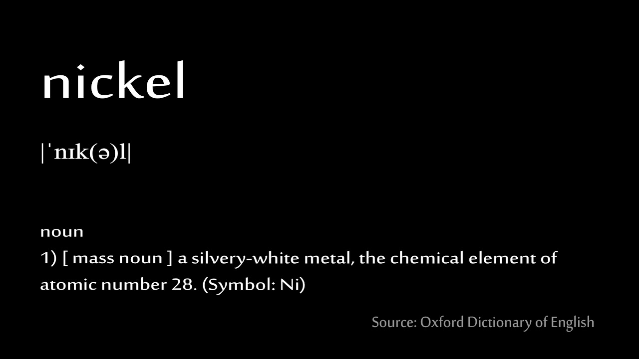 28 nickel - How to pronounce chemical elements (periodic table)