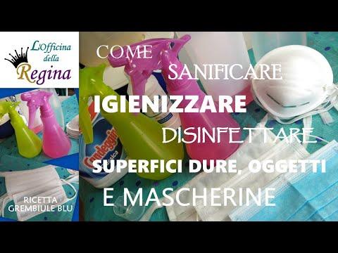 Come sanificare, igienizzare, disinfettare superfici dure, oggetti e mascherine - 3 spruzzini