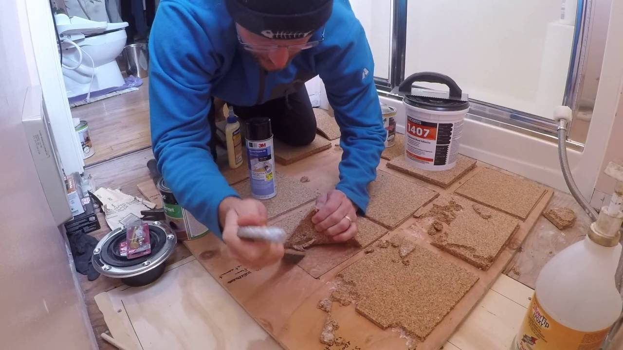 how to install cork flooring in bathroom diy cork floor for bathroom with cheap underlayment 26119 | maxresdefault