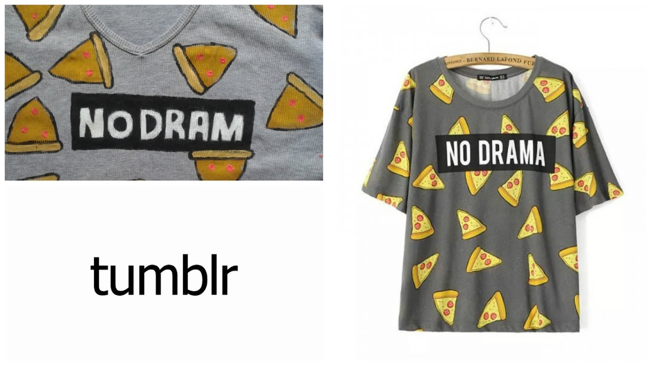 0cbb59be3 DIY Camisa Tumblr pizza -Como fazer estampa de pizza! - YouTube