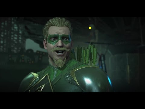 Injustice 2 All Green Arrow Intros  / Character Interactions
