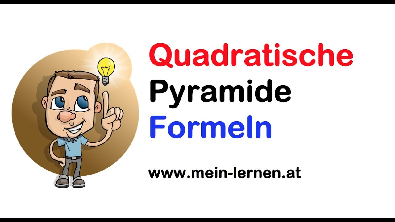 quadratische pyramide formeln youtube. Black Bedroom Furniture Sets. Home Design Ideas