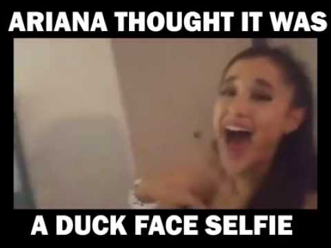 Ariana Thought It Was A Duck Face Selfie