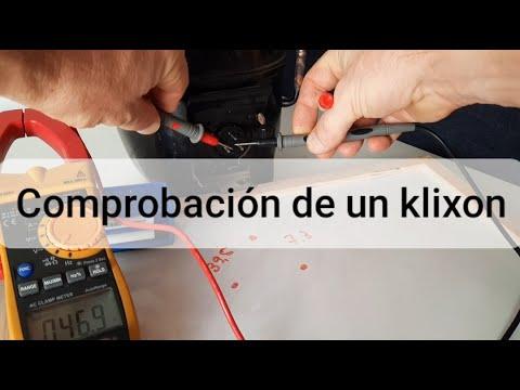 Comprobación de un klixon funcionamiento del protector térmico de compresor.