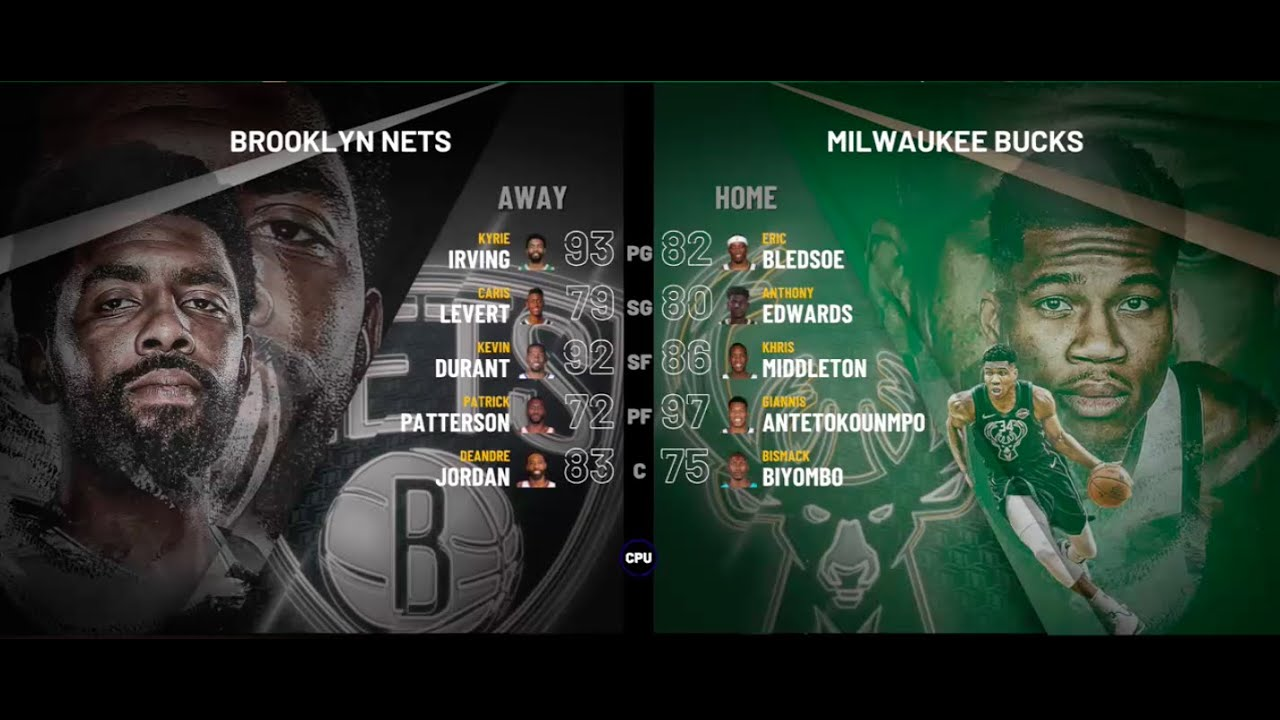 Brooklyn Nets vs. Milwaukee Bucks - 2021 Eastern ...