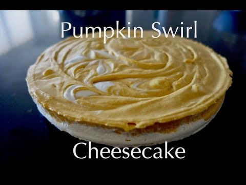 No Bake Pumpkin Swirl Cheesecake