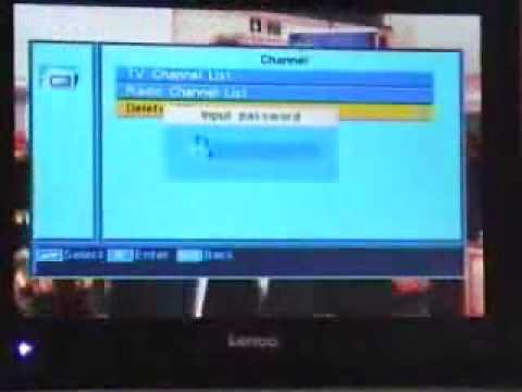 How to remove all the channels from a Free to air receiver