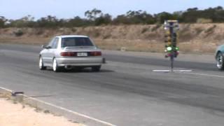 cd5a lancer gsr vs eb falcon drag racing at tailem bend motorsport park